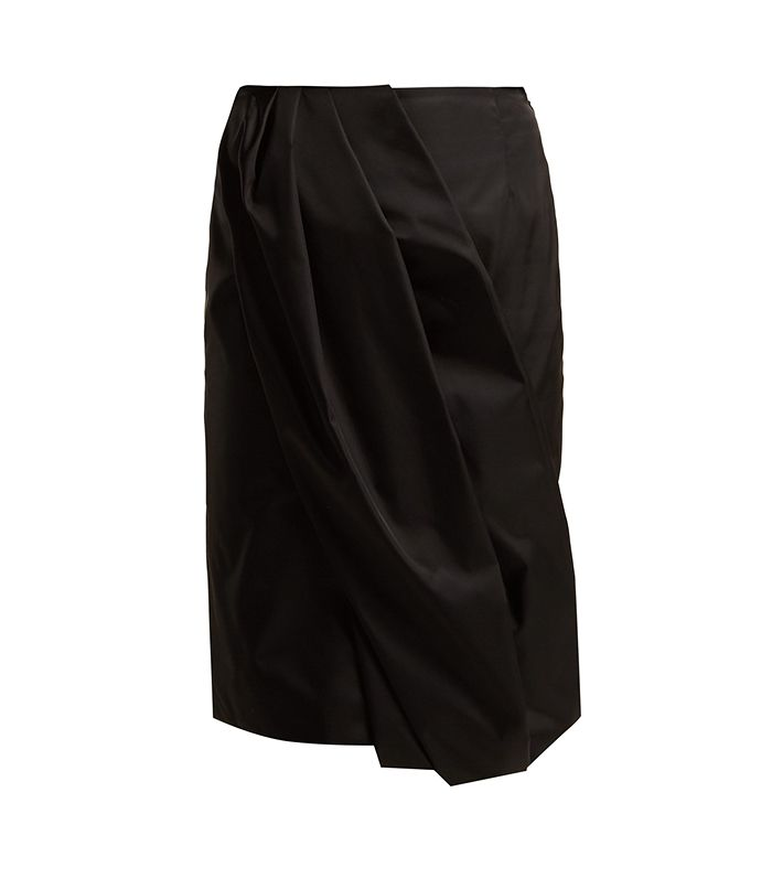 Prada Wrap Effect Nylon Skirt