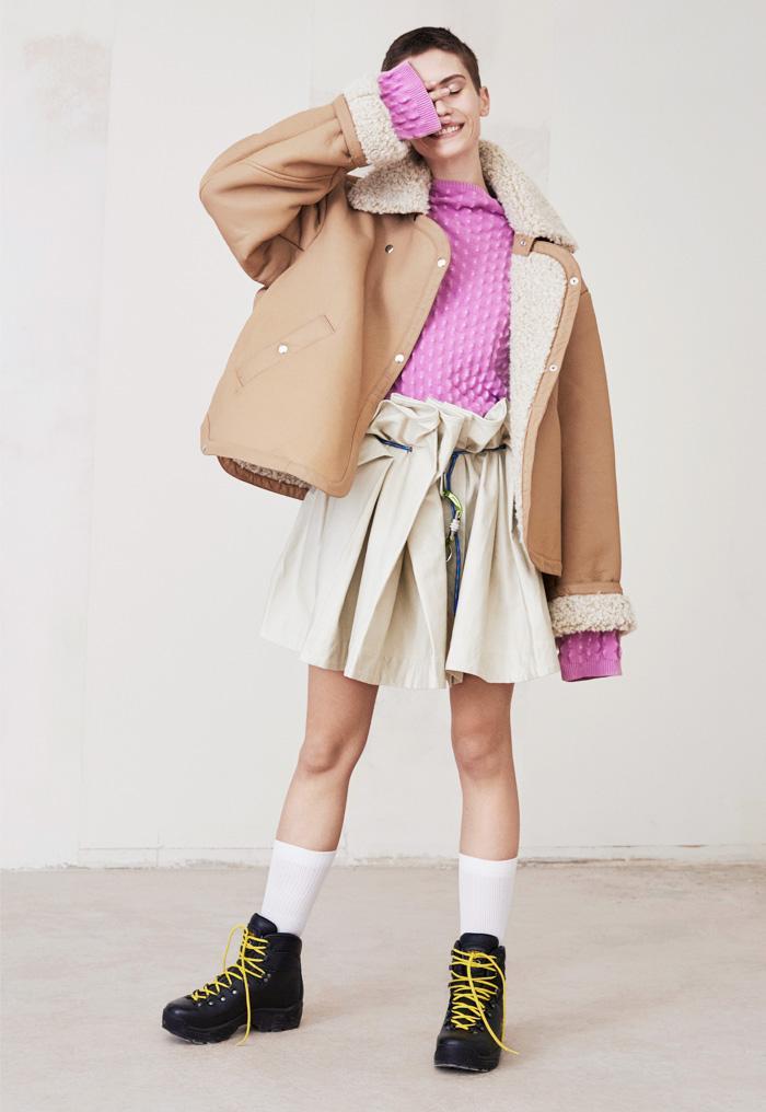 Weekday London store: sherpa jacket