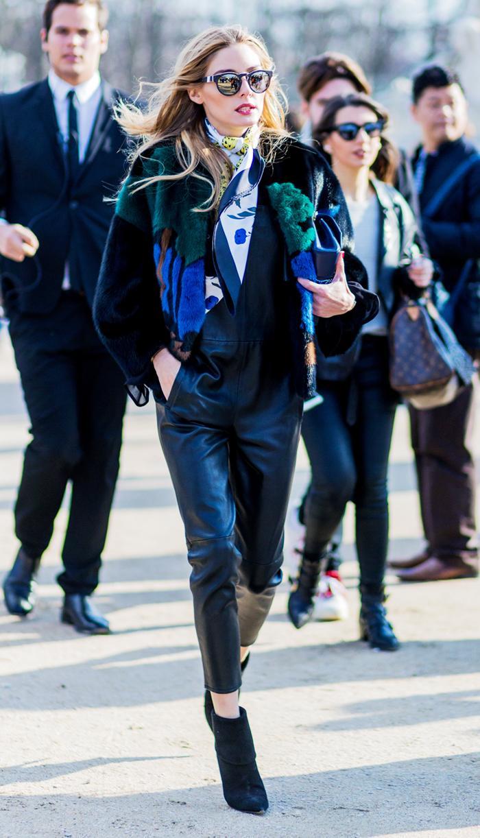 Hermes silk scarf: Olivia Palermo
