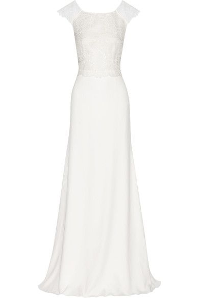 Net-a-porter Zeppelin Embroidered Organza And Crepe Gown