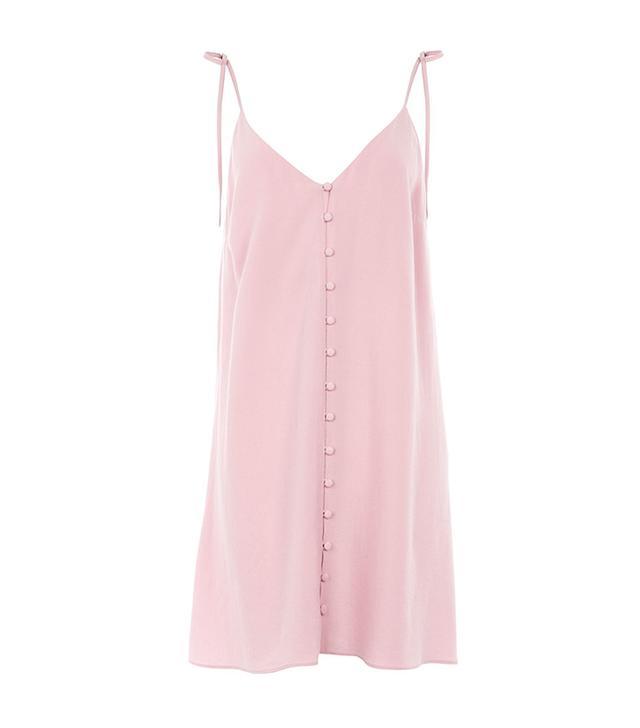 Button Through Mini Slip Dress