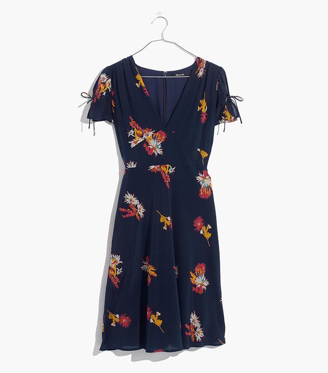 Silk Poppy Dress in Cactus Flower