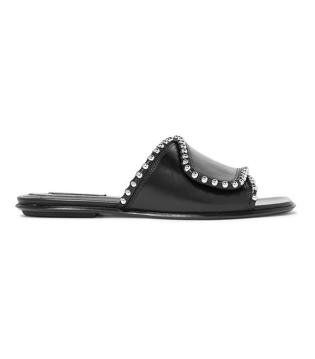 Leidy Studded Leather Slides
