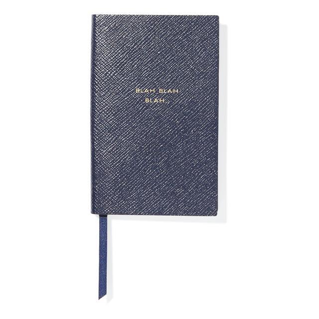 Anxiety at work: Smythson Blah Blah Blah Notebook
