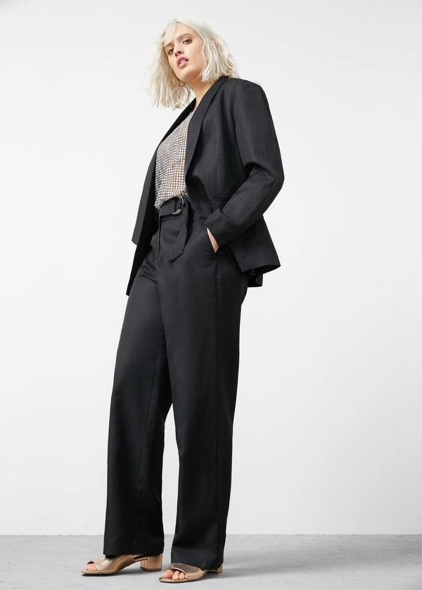 Linen cotton-blend blazer