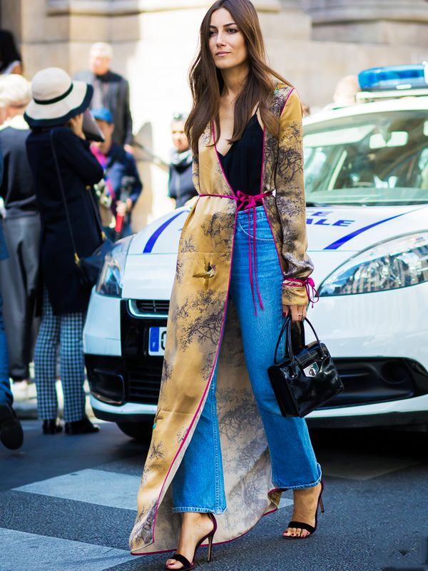 Giorgia Tordini wearing a kimono