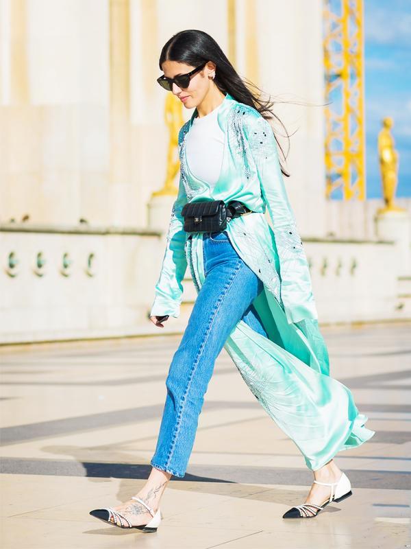 Gilda Ambrosio wearing a kimono
