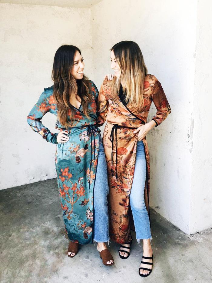 The Devil Wears Zara wearing kimonos