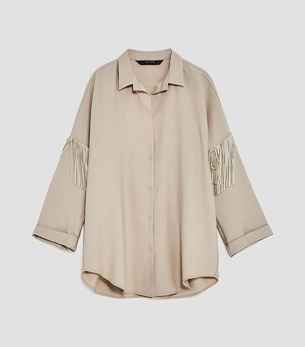 fringed shirt
