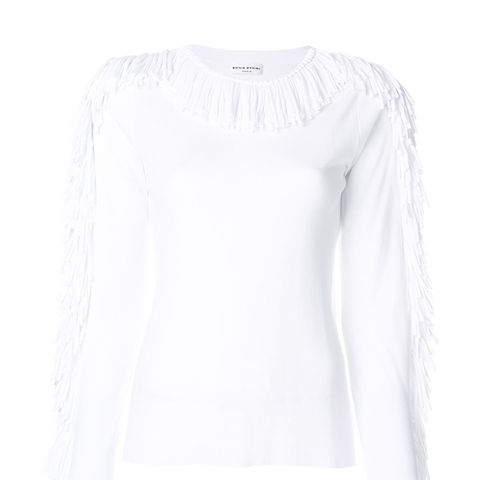 Fringe Detail T-Shirt