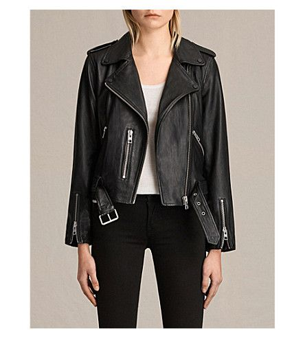 Selfridges All Saints Balfern Leather Biker Jacket