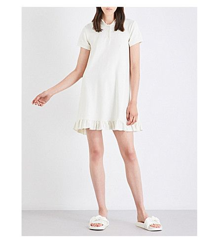 Selfridges Fenty X Puma Frill-trim Cotton-Piqué Polo Dress