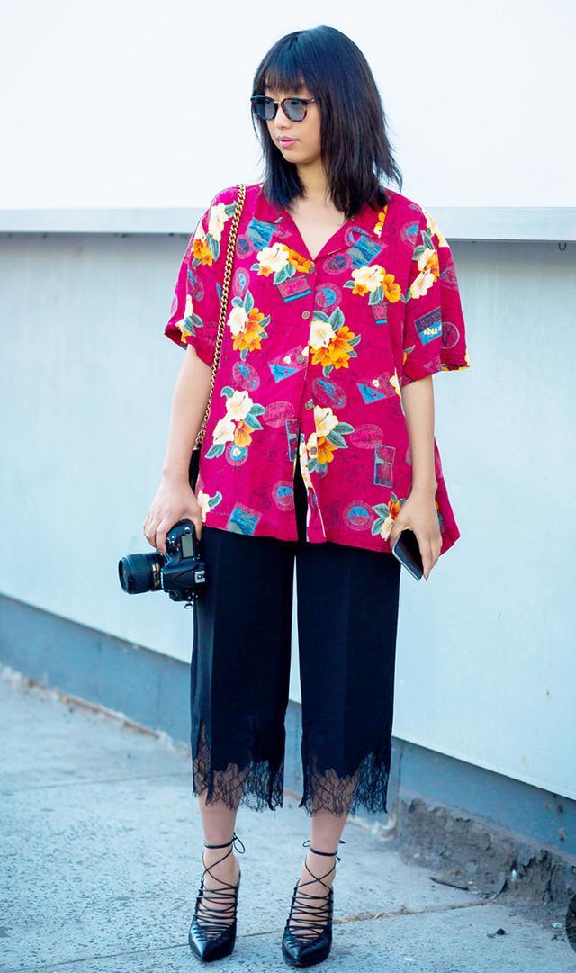 Margaret Zhang in Hawaiian Shirt