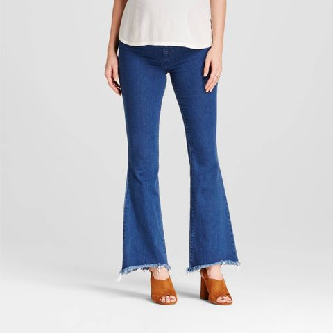 Crossover Panel Flare Jeans