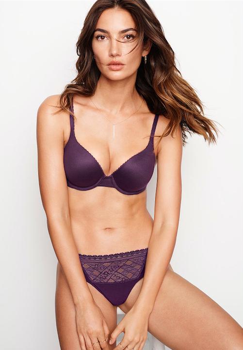 Victoria's Secret Body by Victoria Perfect Shape Full Coverage Bra in Blackberry