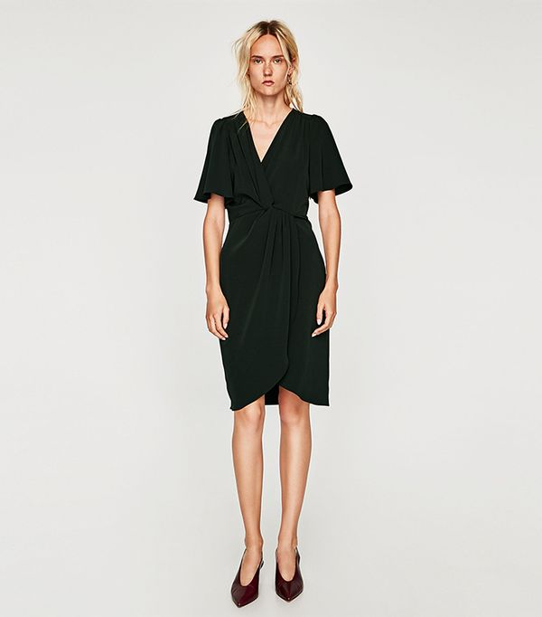 Zara DRESS WITH KNOTTED WAIST