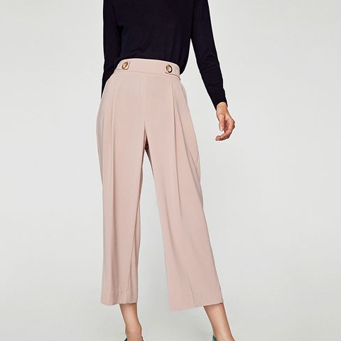 Trousers With Metal Grommets