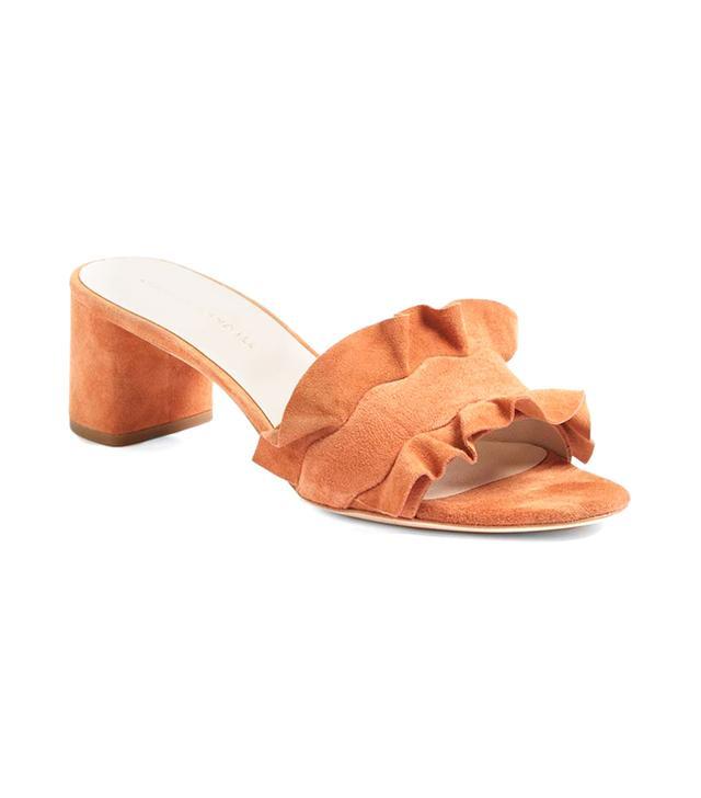 Vera Ruffled Slide Sandal