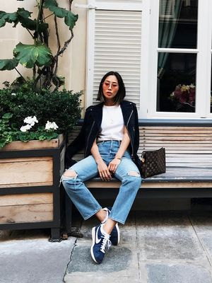 The Fashion-Girl Way to Wear Distressed Jeans