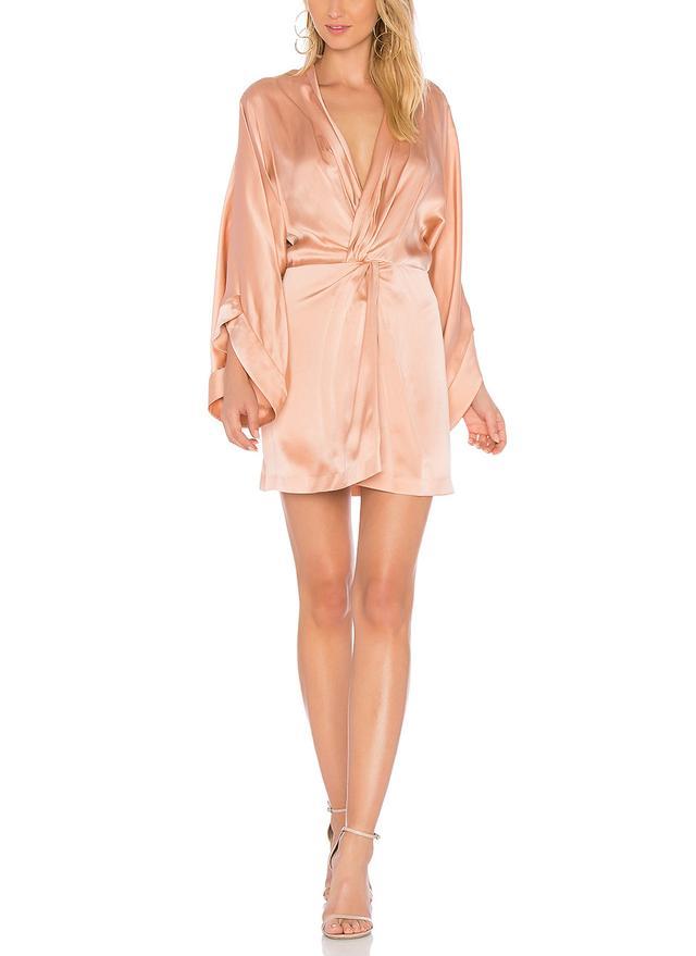 Eden Silk Dress in Pink