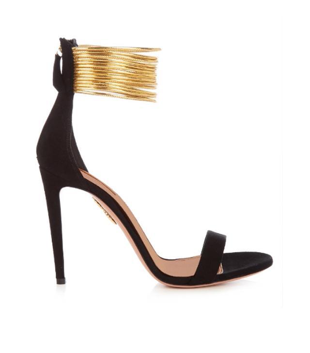 Aquazzura Spin Me Around Suede Sandals