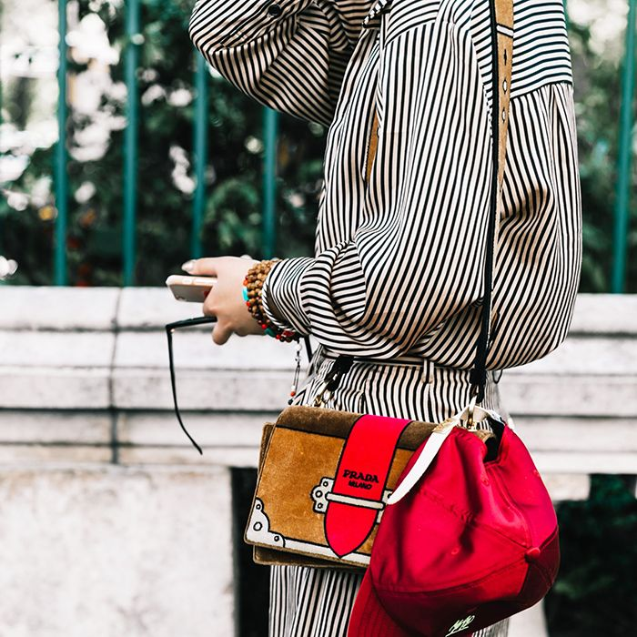 striped outfit street style