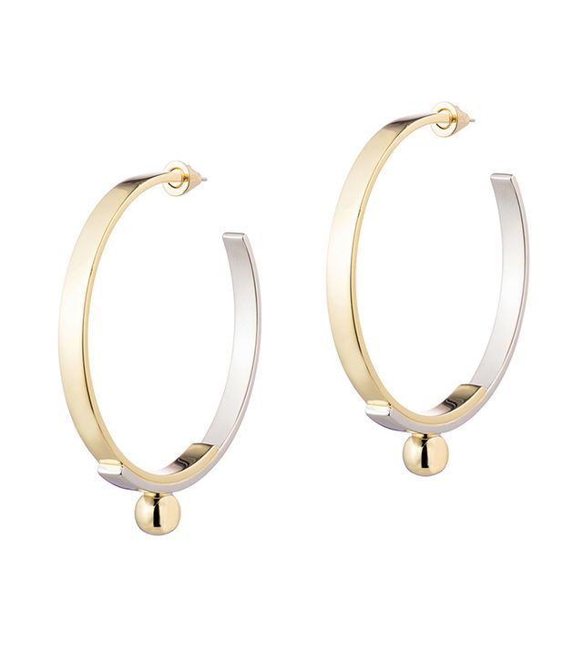 gold silver hoop earrings