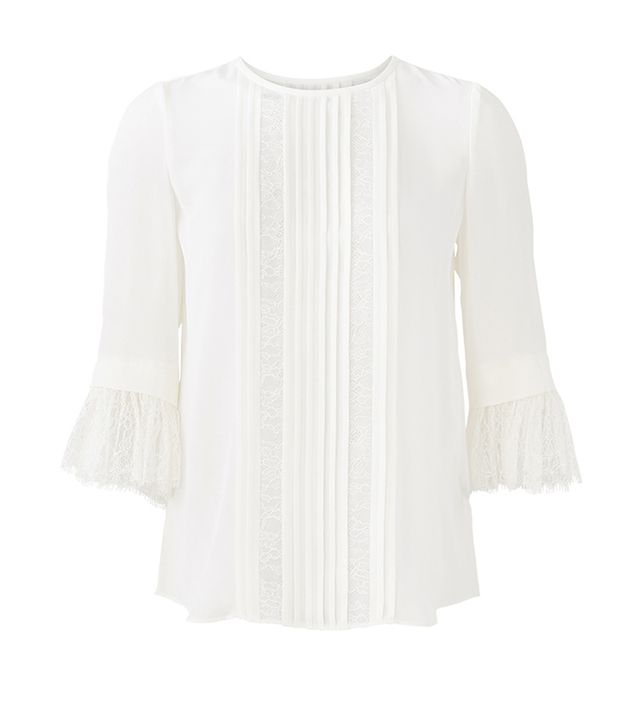 Kate Spade New York White Lace Inset Top
