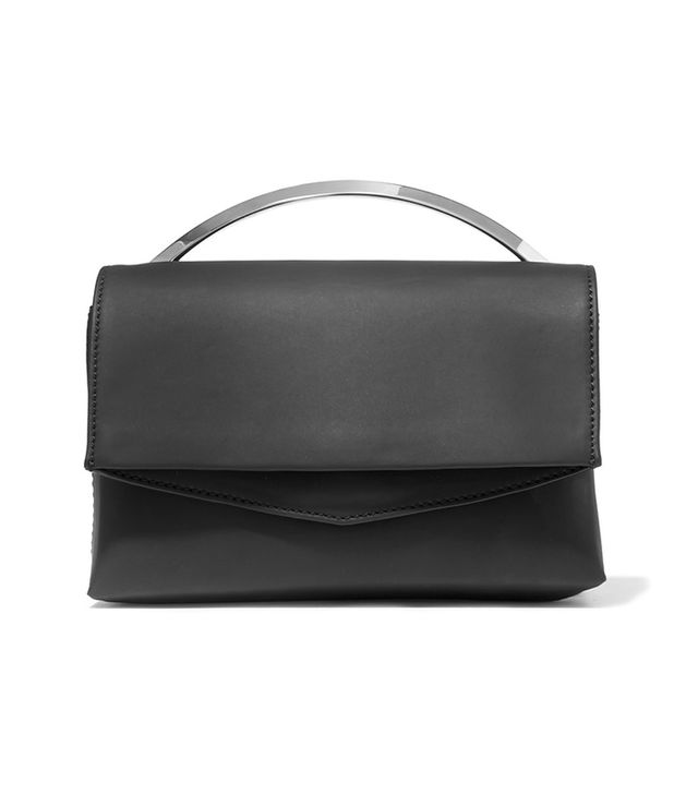- Boyd Vanity Matte-leather Shoulder Bag - Black