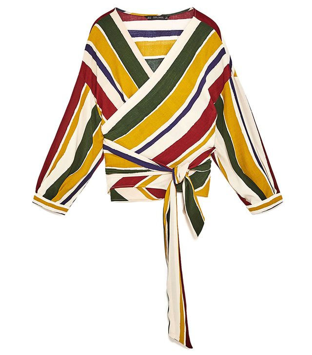 Zara Crossover Striped Top