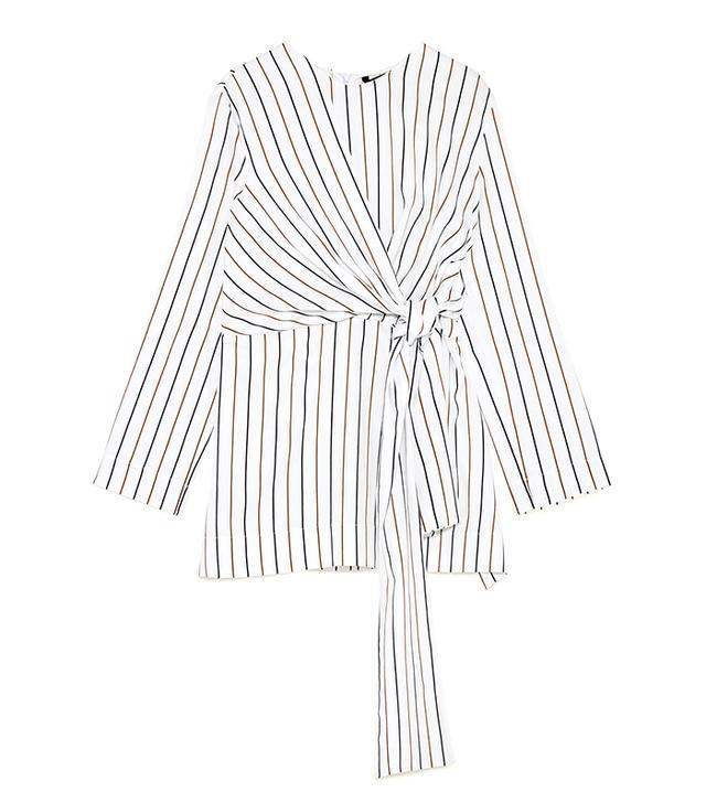 Zara Striped Bow Top