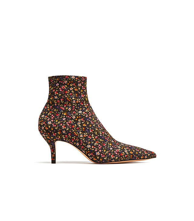 Zara Printed High Heel Ankle Boots