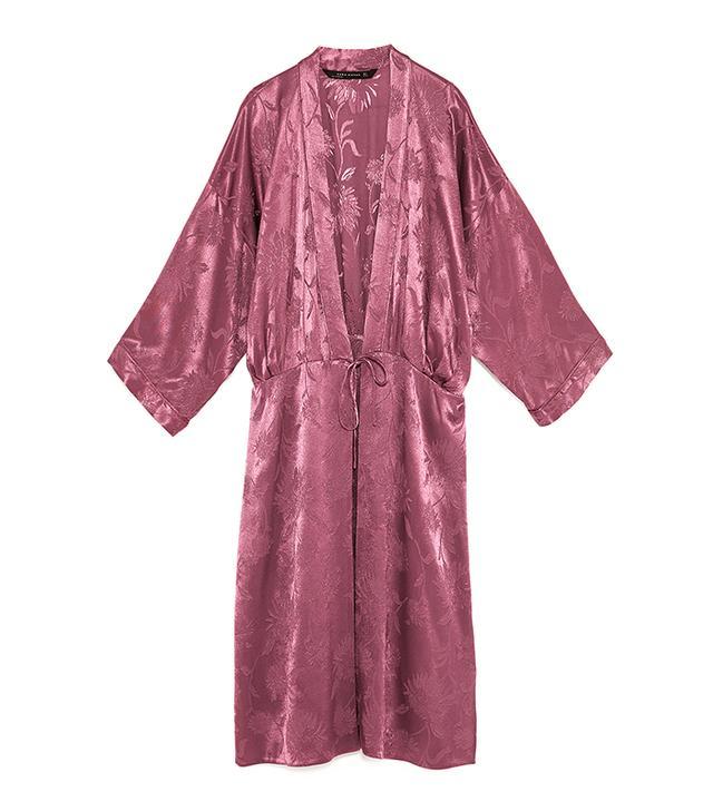 Zara Shimmer Jacquard Kimono