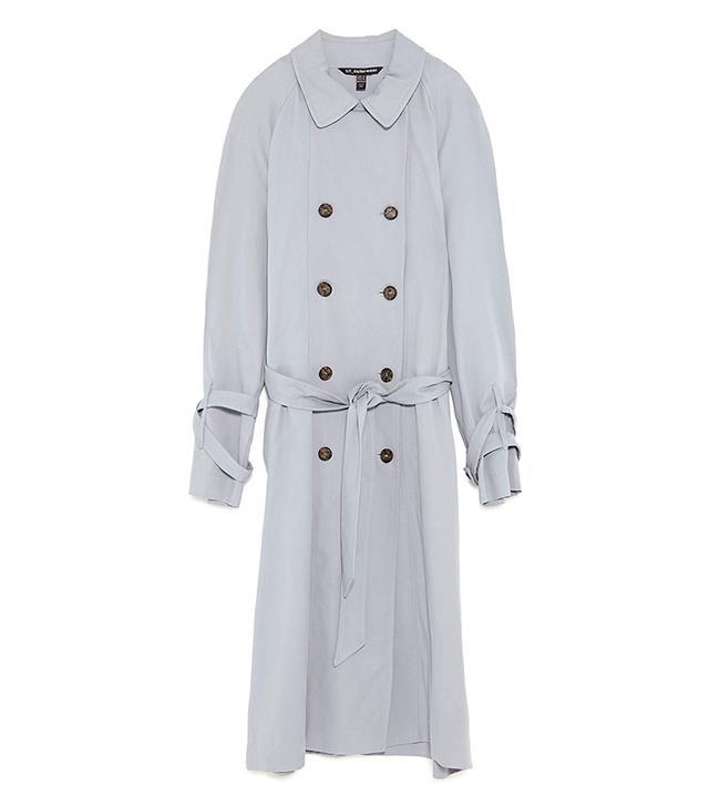 Zara Masculine Style Trench Coat