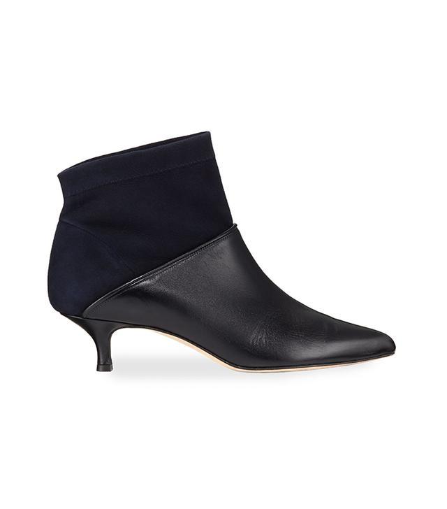 Jean Velvet & Leather Ankle Boot
