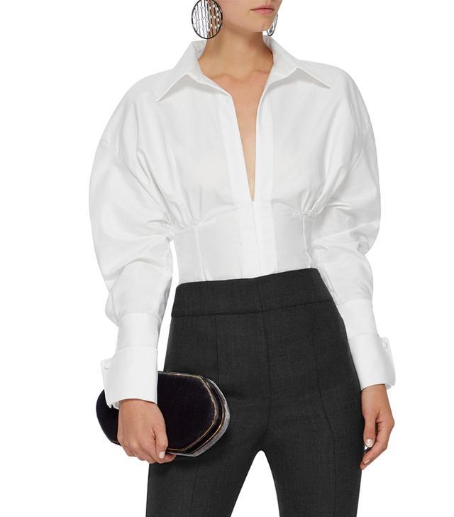 Puff Sleeve Cotton Shirt