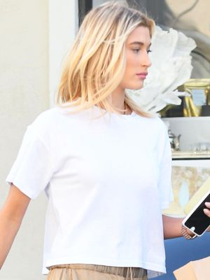 Hailey Baldwin Found the Perfect White T-Shirt at Forever 21