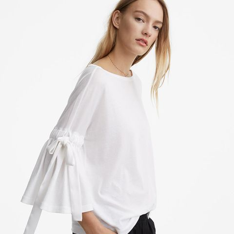 Softserve Cotton Tie Bell Sleeve Top