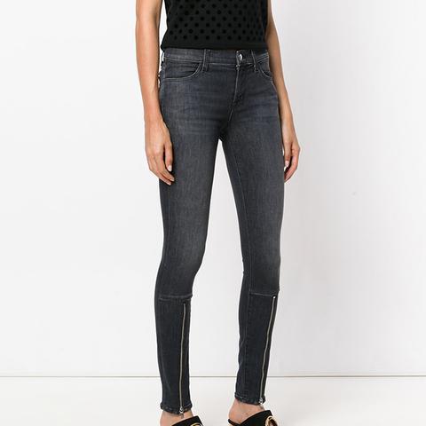 Zipper Detail Skinny Jeans