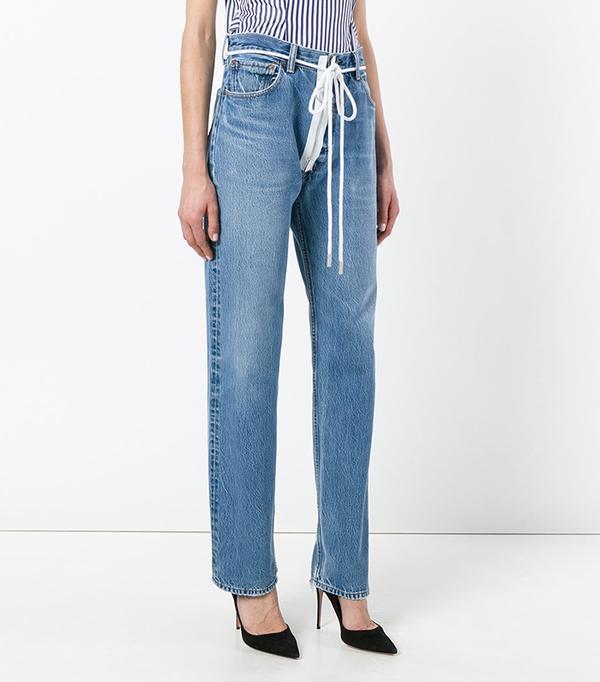 zip detail Levi jeans