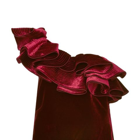 Lorca Ruffled Velvet Top
