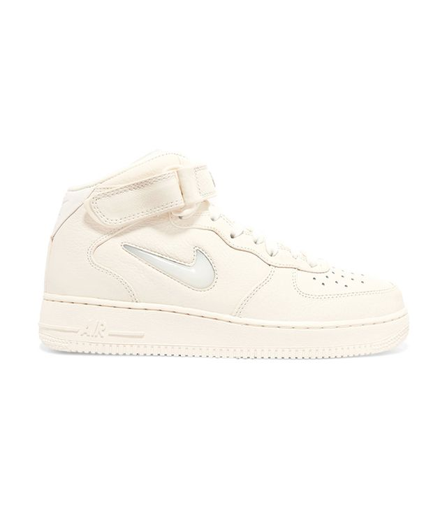Nikelab Air Force 1 Textured-leather High-top Sneakers