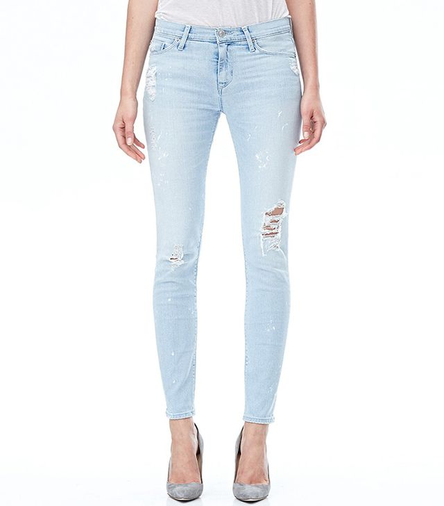 Hudson Nico Midrise Super Skinny Jeans in Reflector