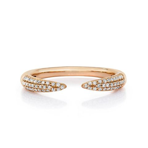 Diamond Claw Stackable Ring
