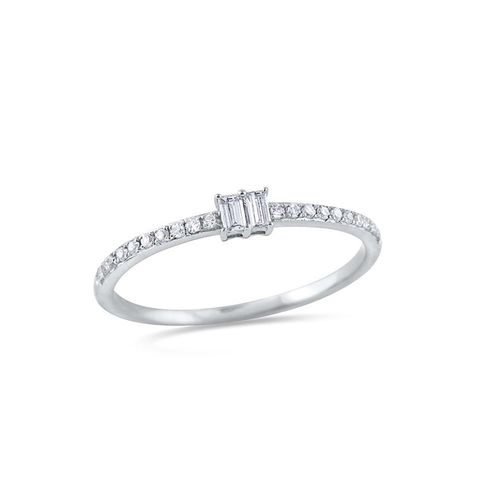Baguette and Pavé Ring