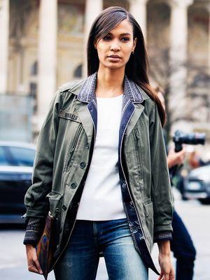 This Is How Fashion Girls Are Wearing Army Jackets