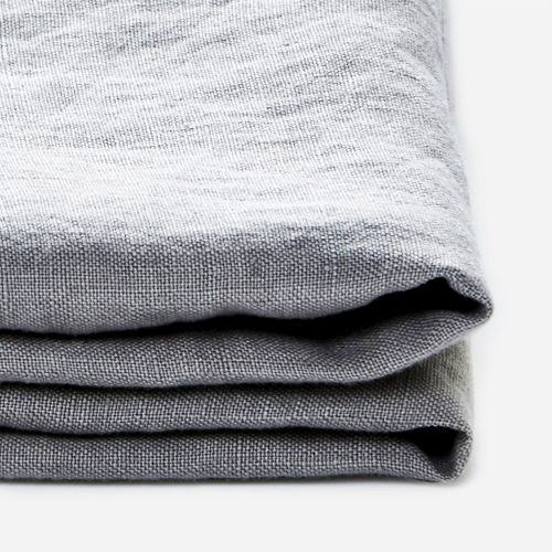 In Bed 100% Linen Fitted Sheet in Cool Grey
