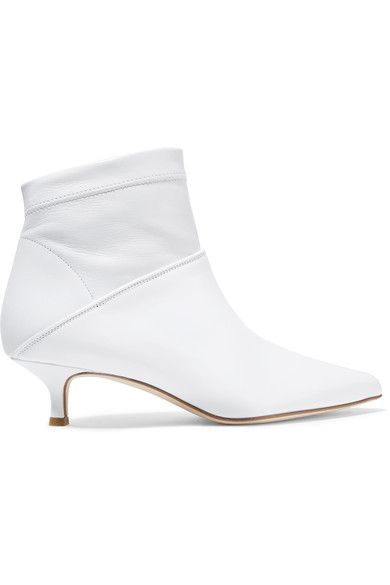 Tibi Jean Leather Ankle Boots