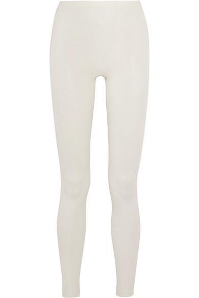 Merino Wool And Silk-blend Leggings
