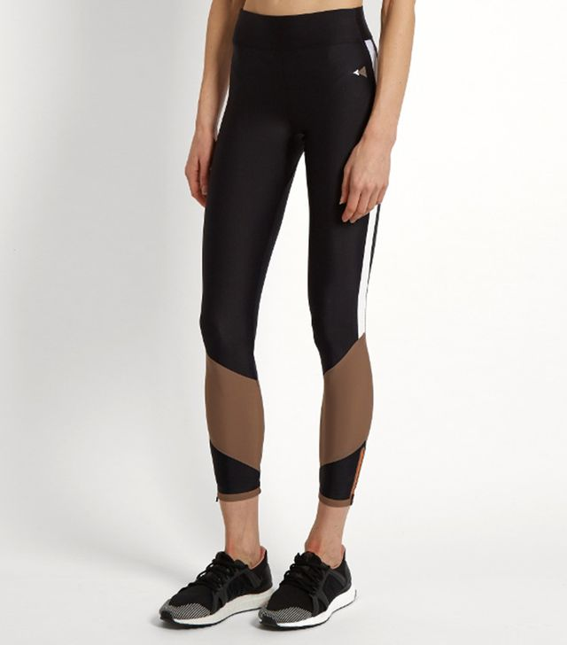 Lydia contrast-panel performance leggings